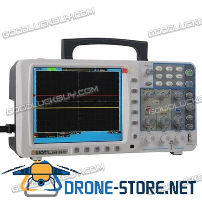 "OWON Digital Storage Oscilloscope SDS8102 100MHz 1G/s 2CH 2G/s 8"" LCD"