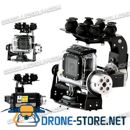 Two Axis Carbon Fiber Aerial Photography Camera PTZ for Gopro 1/2/3