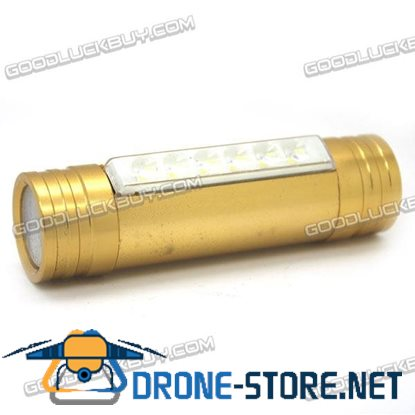 LT-XL80 Rechargeable 3 Modes 6LEDs 2 in 1 LED Flashlight Torch 1200lm Golden