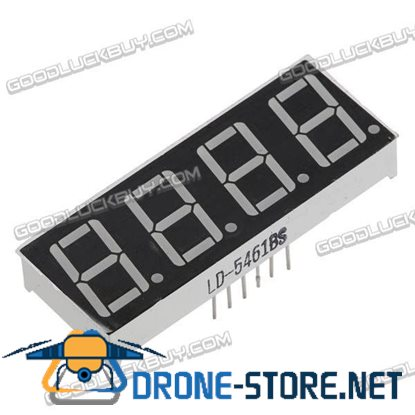 "10 X 0.56"" 7-Segment Super 4 LED Display CA/CC"
