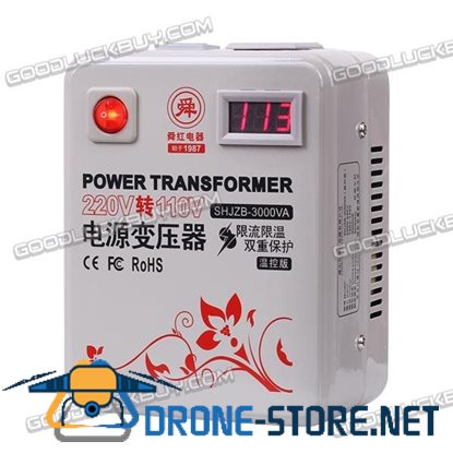Shunhong 3000W 110V to 220V Power Transformer with LED Display&Temperature Control Board