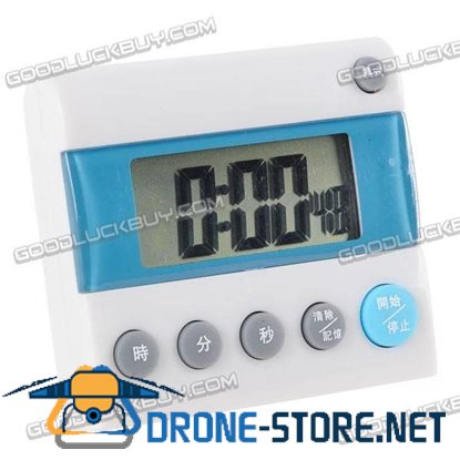 Timer Alarm Countdown Clock Memory Feature 1 Sec to 24 hr 401 White