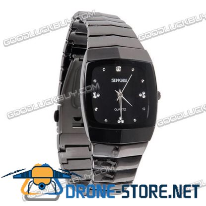 Stainless Steel Quartz Crystal Wrist Watch Men Gift Waterproof 919