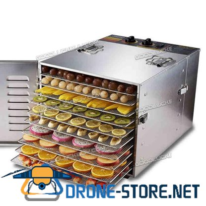 1000W Stainless Steel Food Dehydrator Fruit Vegetable Drying Machine