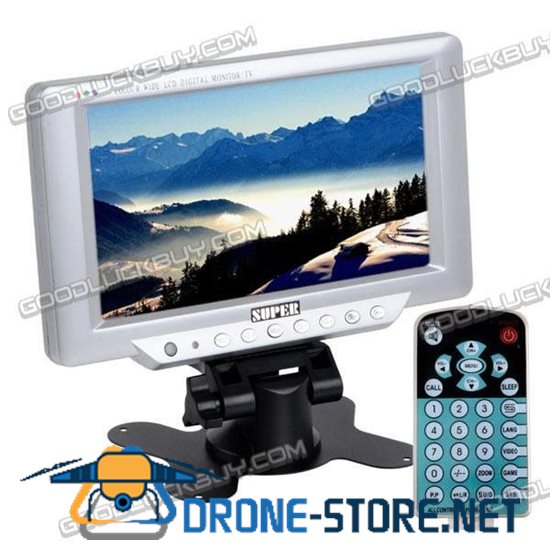 """7"""" inch LCD TFT TV Monitor with Wide View Angle 16:9"""