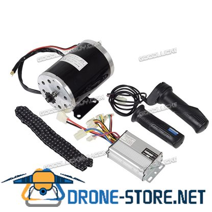 MY1020 1000W 48V Electric Motor Controller Throttle Chain for Scooter Go-kart Minibike