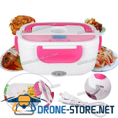 110V/220V Portable Heated Lunch Box Electric Heating Truck Oven Cooker Pink