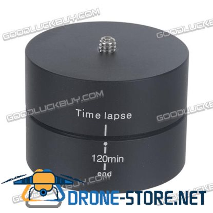 """1/4"""" 120min 360 Degrees Panning Rotating Time Lapse Stabilizer Tripod Adapter for Gopro"""
