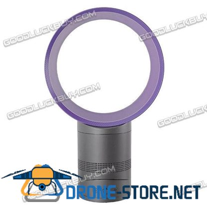 "10"" Hidden Blade Air Amplification Safe Table Fan Purple"
