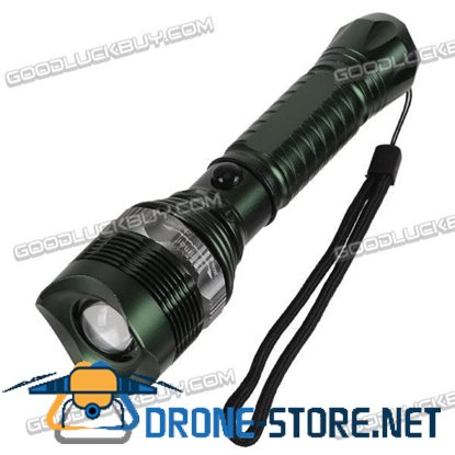 Dimmer Zoom In/out 3-Mode LED Focusing Glass Flashlight-Green