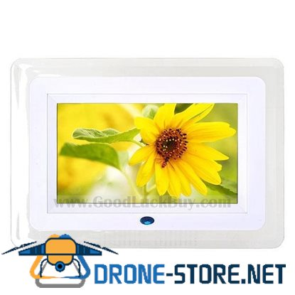 "7"" LCD Digital Photo Frame AV Output Picture Video Music Player w/ LED Light"