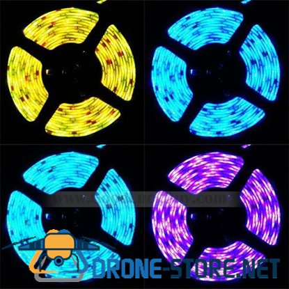 10M Flexible RGB SMD 5050 600 LED Strip Light Waterproof w/Remote+Power