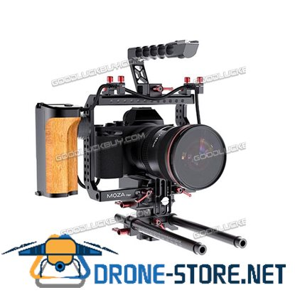 15mm Rod Rig Camera Video Cage Kit+Top Handle Grip for BMPCC Sony A7/S A6300/GH4