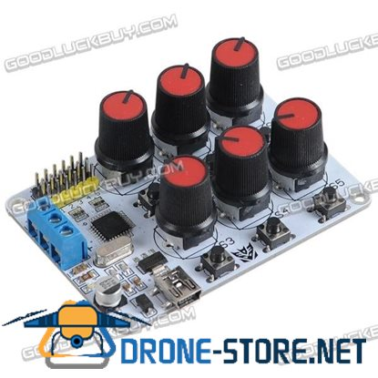 6CH Rotary Knob Servo Driver Controller Board w/Overcurrent Protection