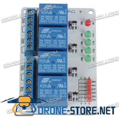 4CH 4 Channel 12V Relay Module for PIC ARM AVR MSP430