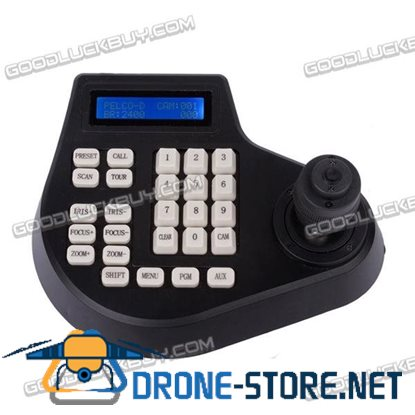 4 Axis Dimension Joystick Keyboard Controller LCD Display for PTZ CCTV Camera