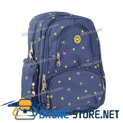 Nappy Mother Mummy Backpack Diaper Bags Baby Newborn Pad Changing Shoulder Bag Blue&Flowers