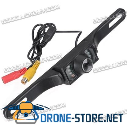 Wireless 7-LED Waterproof Night Vision Rear View Camera for Car DVD Black(WX700)</