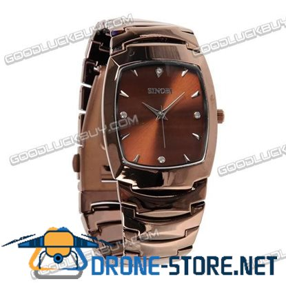 Stainless Steel Quartz Wrist Watch Men Gift Waterproof 9185