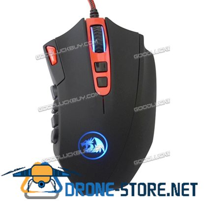 16400DPI High Precision 18 Programmable Button Laser Gaming Mouse REDRAGON Black