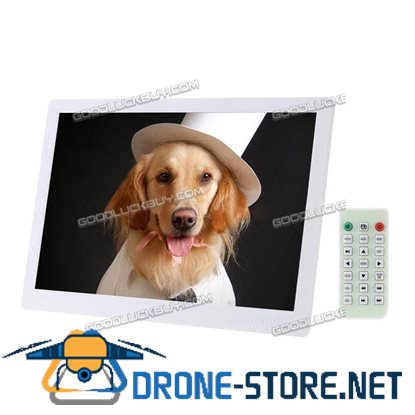 """15.6"""" HD 1080P LED Digital Photo Frame Picture MP4 Movie Player Remote Control White"""