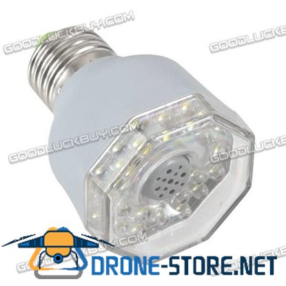 AL201 E27 3W 23 LED White Light Sound Activated Automatic Lamp -Silver