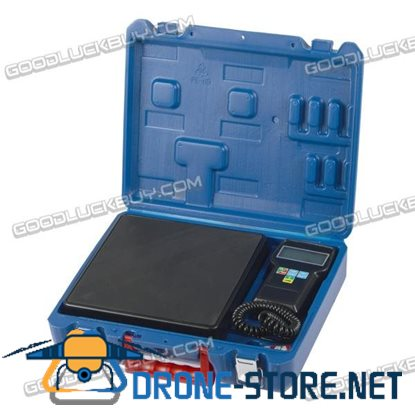 220lb Digital HVAC Refrigerant Charging Weighing Weight Electronic Scale with Case