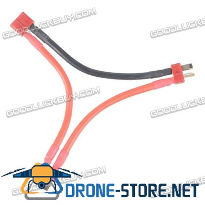 1 Female to 2 Male Dean Plug Adaption Cable Battery Serial Connection Cable