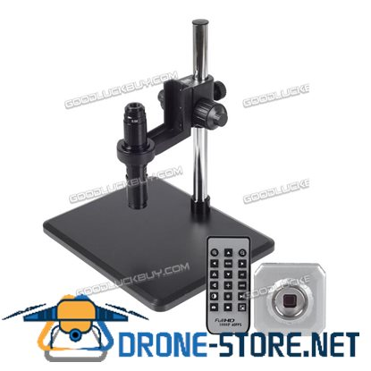 16MP 1080P HDMI USB Digital Industry Microscope Set Camera Video Zoom Lens H1600 + Bracket