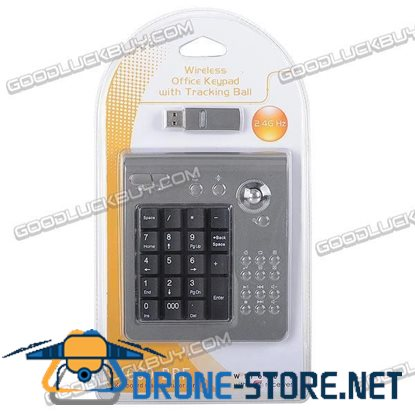 2.4GHz Wireless Numberic Number Keyboard Keypad with Tracking Ball