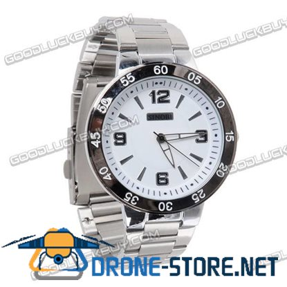 Stainless Steel Quartz Wrist Watch Men Gift Waterproof 9188
