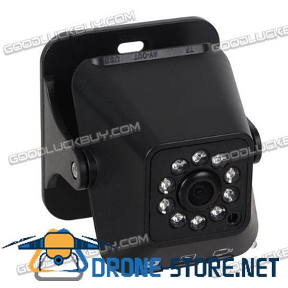 1.3 Mega Pixel CCD Surveillance Security Camera with 10-LED Night Vision Black