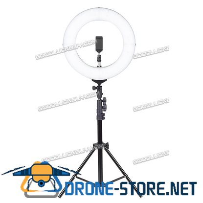 "14"" LED Ring Light with Stand Dimmable LED Lighting Kit Makeup Live for Phone Camera"