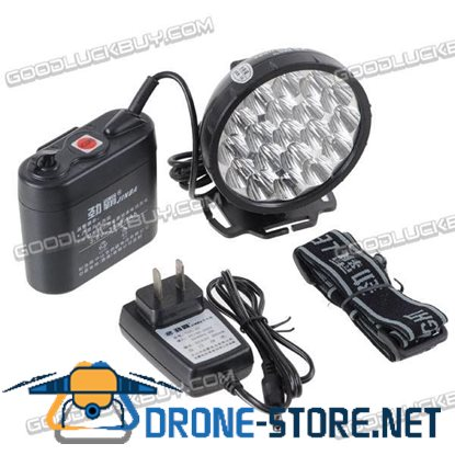 19-LED Rechargeable Headlamp Kit with AC and Car Charger