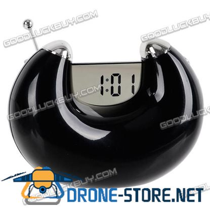 Alarm LCD Clock with Date and FM Radio (PGP306) Black