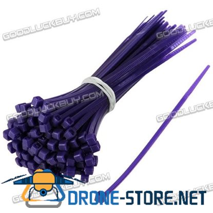 1000pcs 2x100mm Nylon Strap Strapping Tie Bundle Self-Locking Ties-Deep Purple
