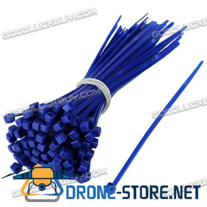 1000pcs 2x100mm Nylon Strap Strapping Tie Bundle Self-Locking Ties-Deep Blue