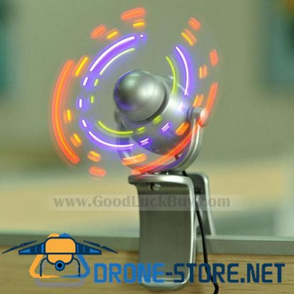 Portable Novelty Clip-on USB LED Light with Fan for PC Laptop Notebook