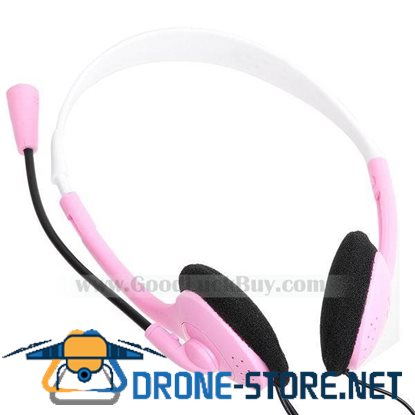 3.5mm Professional Stereo DJ Headphone Headset w/Microphone Mic