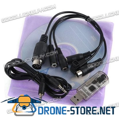 Universal 12 in1 Flight Simulator Cable USB Dongle Reflex XTR Aerofly for RC Helicopter Airplane