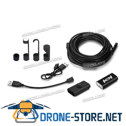 1200P Endoscope 5M 8LED WiFi Borescope Inspection HD Camera for Andriod Iphone