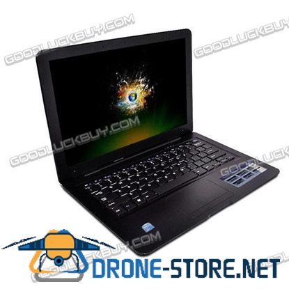 "13.3"" Slim Netbook MacBook Style Intel Atom N450 1GB w/Remote Control Black"