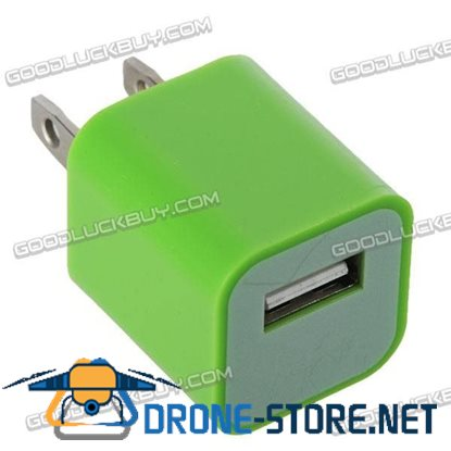 100-240V 1A 3G Power Adapter Plug Travel Adapter with USB Port-Green
