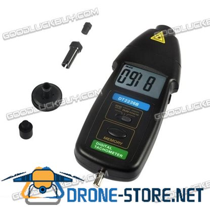 DT2236B 2in1 Digital Laser Photo Contact Tachometer RPM Speed Tester