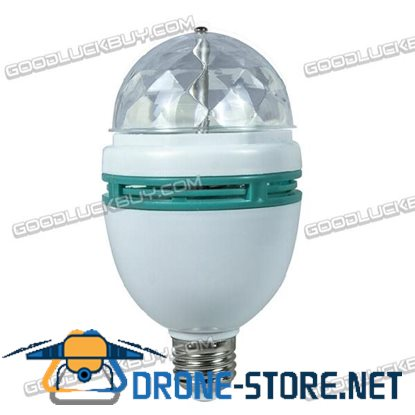3W Crystal Ball Rotating LED Lamp RGB Stage Lights E27 for Party Disco DJ Bulb