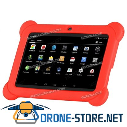 """7"""" Inch Kids Android 4.4 HD Tablet PC Quad Core Wifi for Children Education Red"""