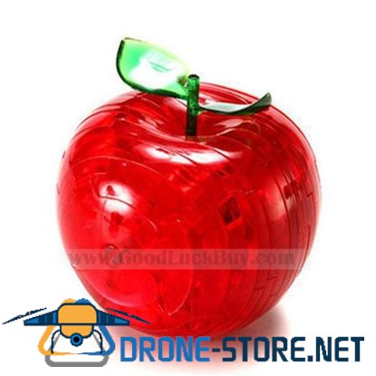 3D Crystal Furnish Apple Jigsaw Puzzle IQ Gadget Red/Green