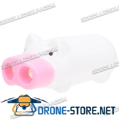 Cute Pig 2-LED Flashlight Keychain (Batteries Included) White