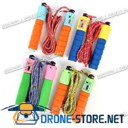 Exercise Training Foam Handle Sports Skipping Rope w/ Counter