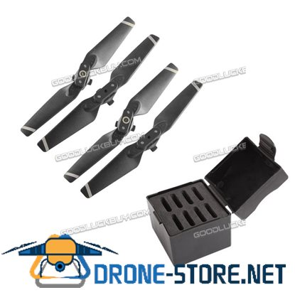 4 Pairs Quick Release Folding Blade 4730S Propeller CW CCW for DJI SPARK White+Box